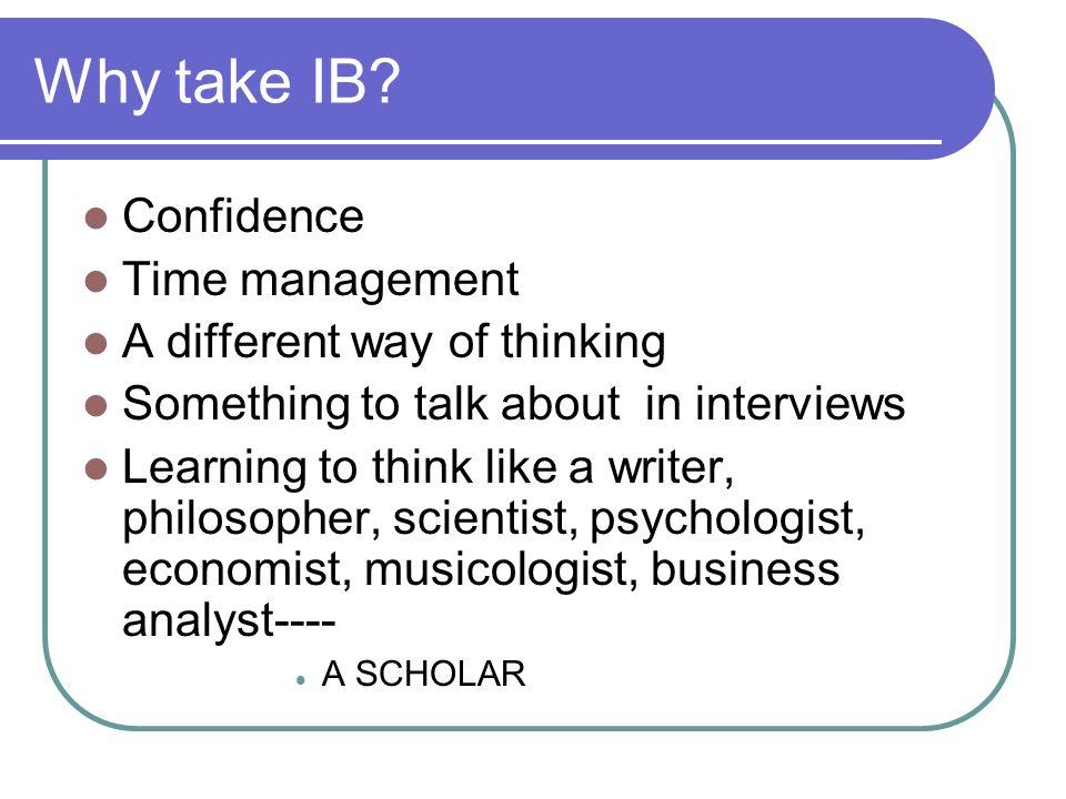 Why take IB.