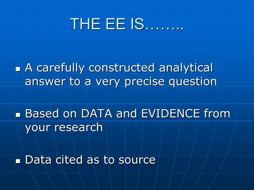 THE EE IS……..