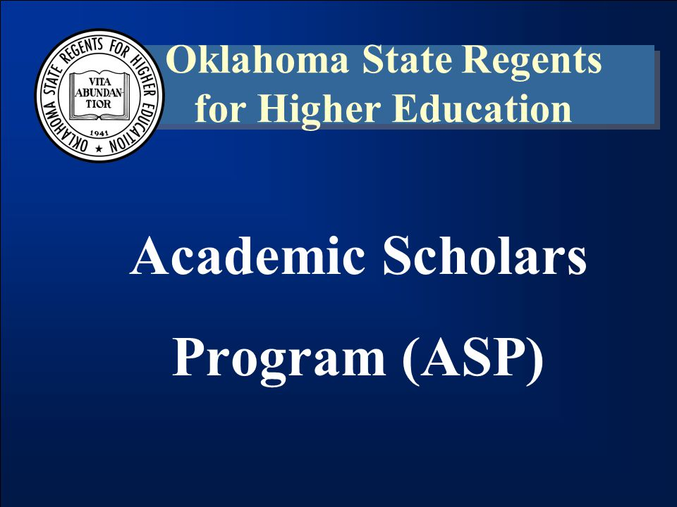 Academic Scholars Program (ASP) Non-Resident Participation –Beginning in 2008-09, institutions exceeding 25% in non-resident payments were required to refund the program.