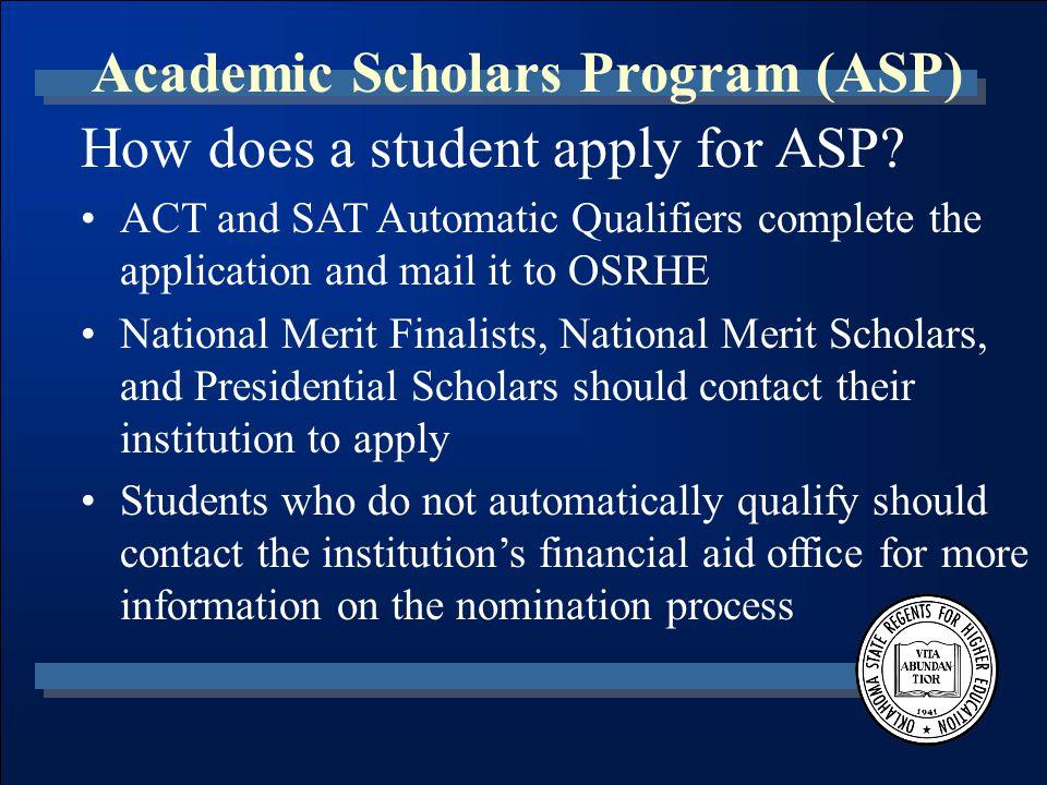 William P. Willis Scholarship Program Oklahoma State Regents for Higher Education