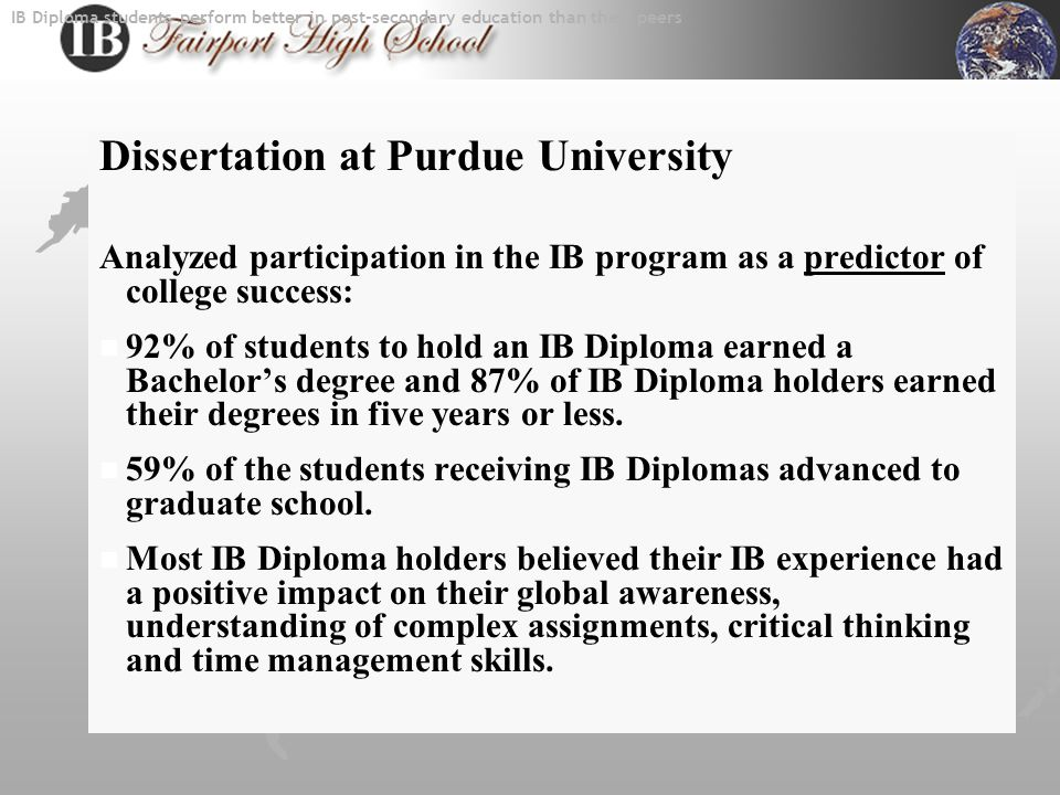 Who should apply for the IB Program. Any student who…  is hard working.