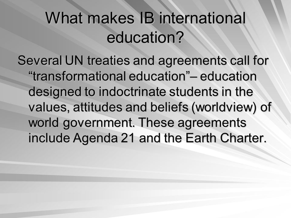 What makes IB international education.