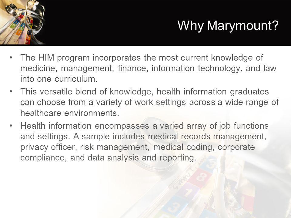 Why Marymount.