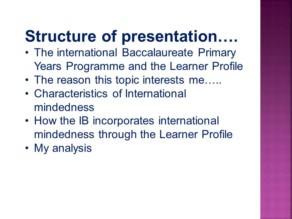 Structure of presentation….