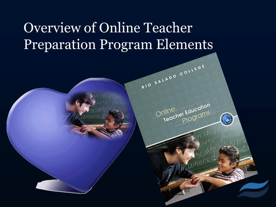 Overview of Online Teacher Preparation Program Elements