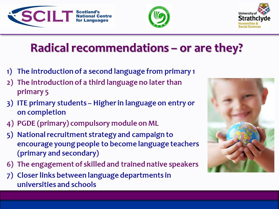 Radical recommendations – or are they.