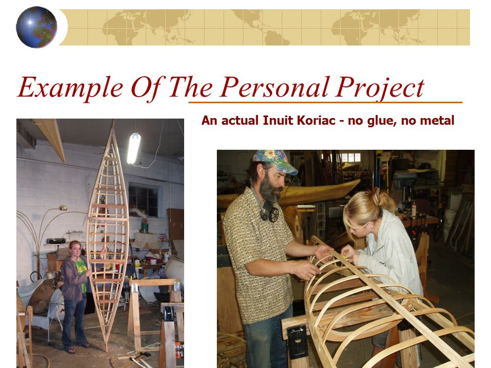 Example Of The Personal Project An actual Inuit Koriac - no glue, no metal
