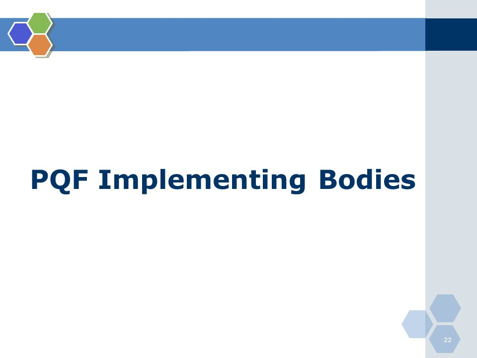 PQF Implementing Bodies 22