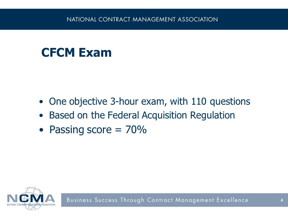 What Certification Is NCMA Certification –Validates your knowledge of CM –Forces you to keep current on CM –Brings you one step closer to professional perfection Education is an indicator of academic strength, while certification is an indicator of professional strength 15