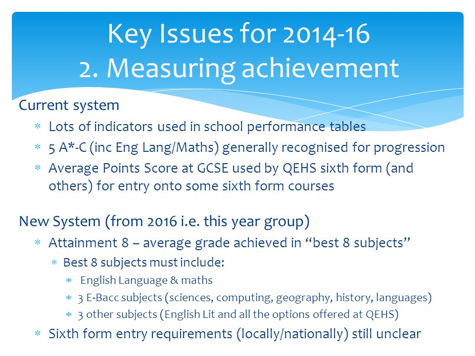 Key Issues for 2014-16 2.