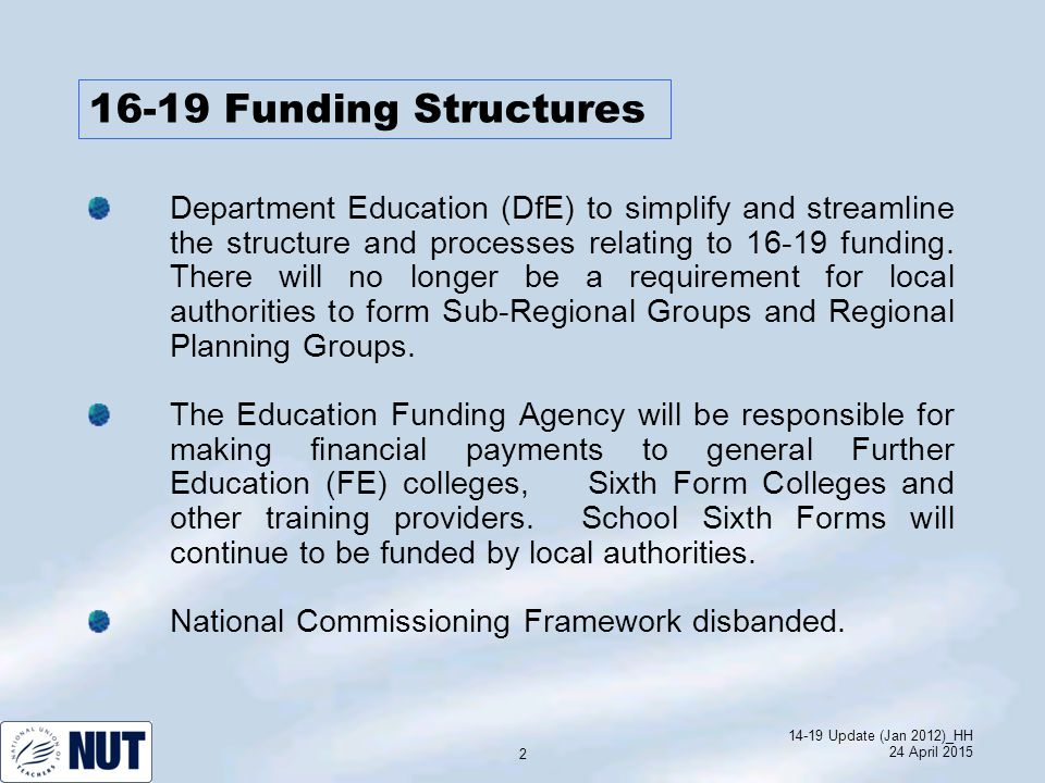 14-19 Update (Jan 2012)_HH 24 April 2015 13 Higher Education – Raising of Fees.