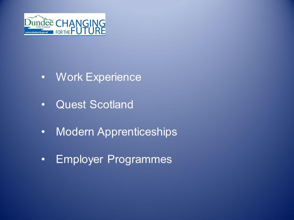 Work Experience Quest Scotland Modern Apprenticeships Employer Programmes