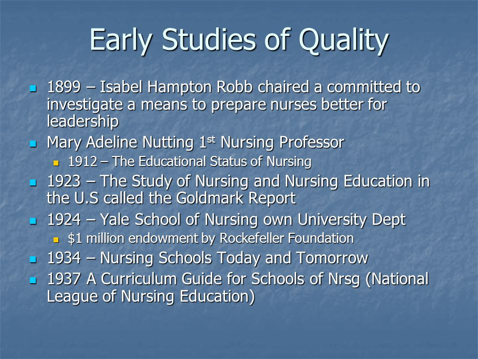 Accreditation Voluntary review process of ed program by a professional organization Voluntary review process of ed program by a professional organization 1952 National League for Nursing Accreditation Commission 1952 National League for Nursing Accreditation Commission 1996 Commission on Collegiate Nursing Education organized by American Association of Colleges of Nursing 1996 Commission on Collegiate Nursing Education organized by American Association of Colleges of Nursing