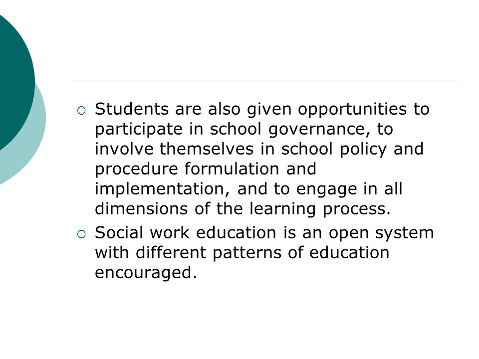 Educational Objectives  Understand and incorporate the basic values, concepts, and methods of social work.