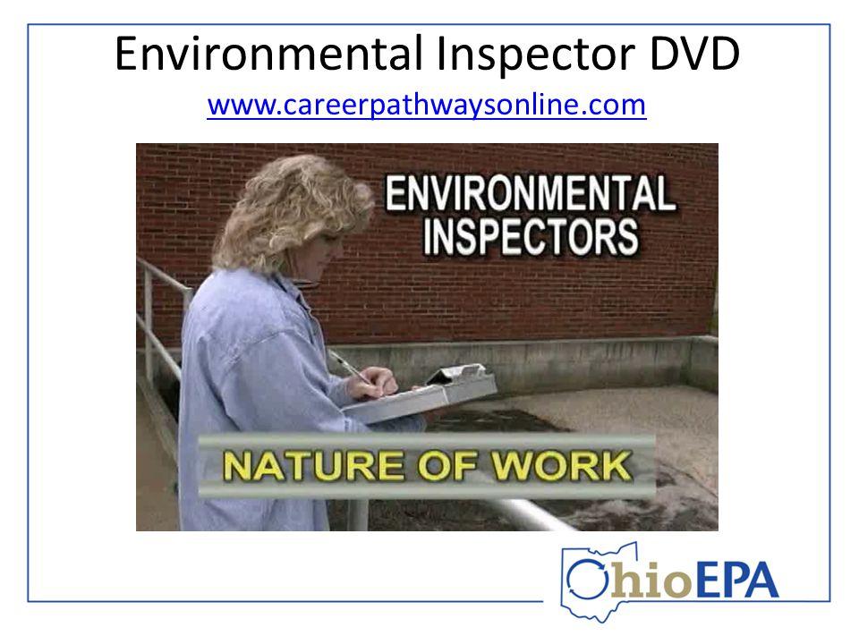 Environmental Inspector DVD www.careerpathwaysonline.com www.careerpathwaysonline.com