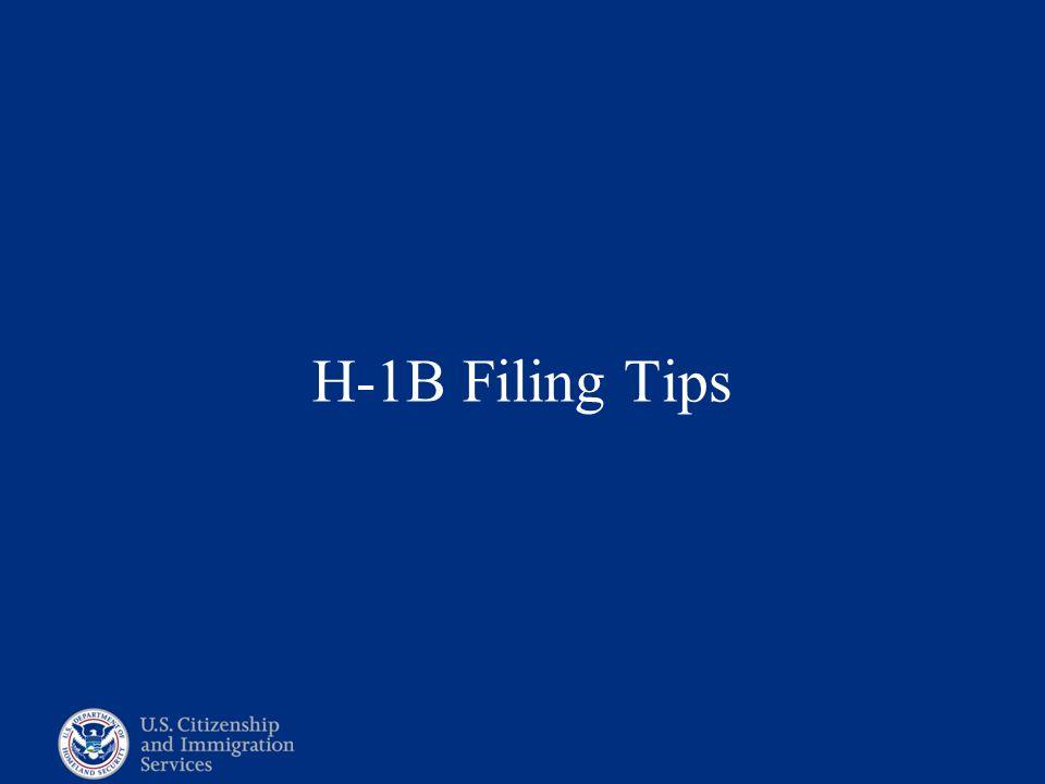 H-1B Filing Tips