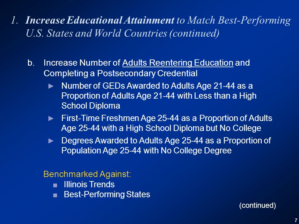77 1.Increase Educational Attainment to Match Best-Performing U.S.