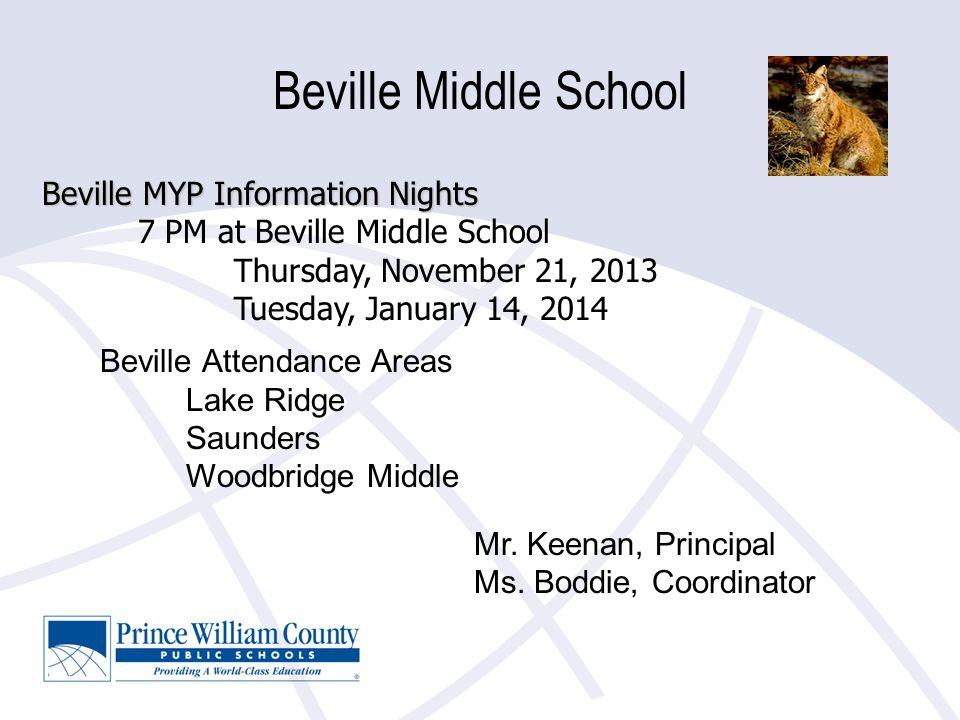 Beville Middle School Beville Attendance Areas Lake Ridge Saunders Woodbridge Middle Mr.