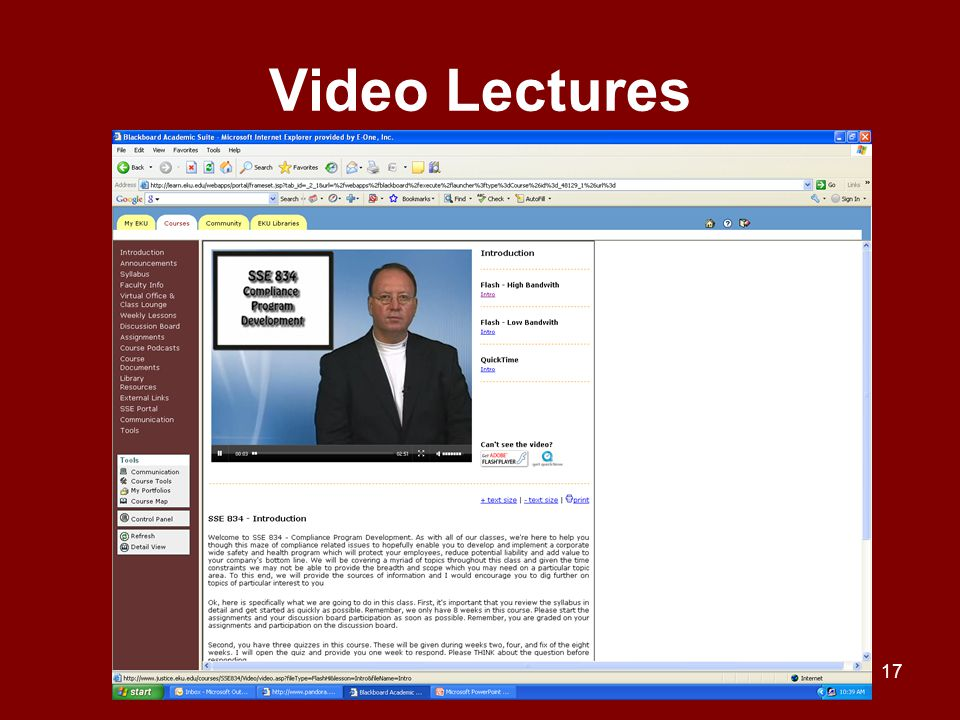 Video Lectures 17