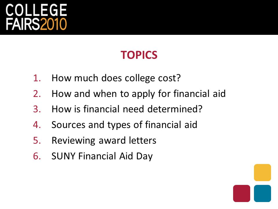 TOPICS 1.How much does college cost.