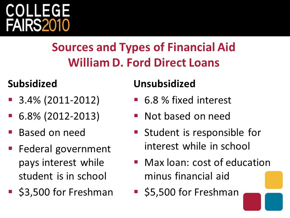 Sources and Types of Financial Aid William D.