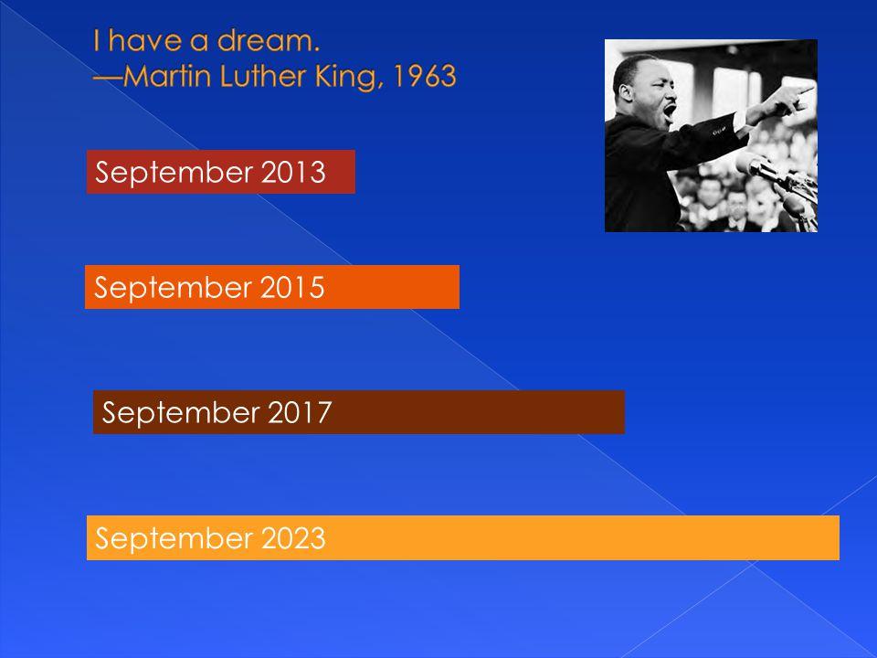 September 2013 September 2015 September 2017 September 2023