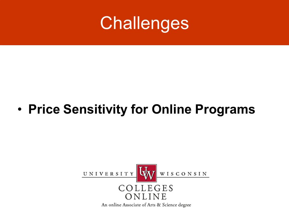 Challenges Price Sensitivity for Online Programs