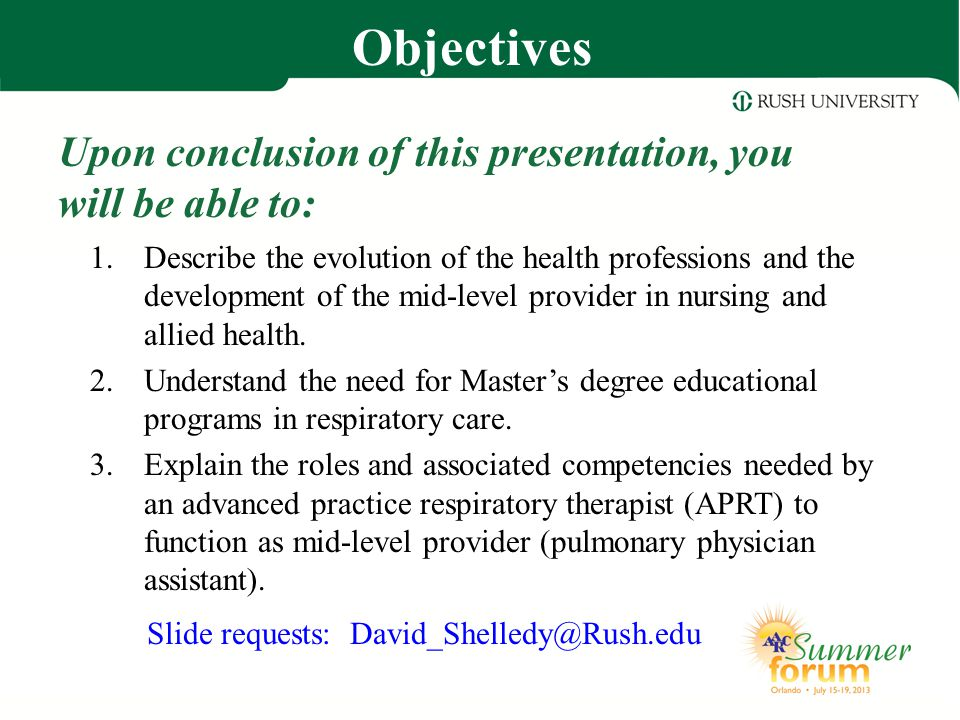 Why the Master of Science in Respiratory Care.