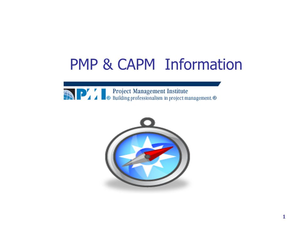1 PMP & CAPM Information