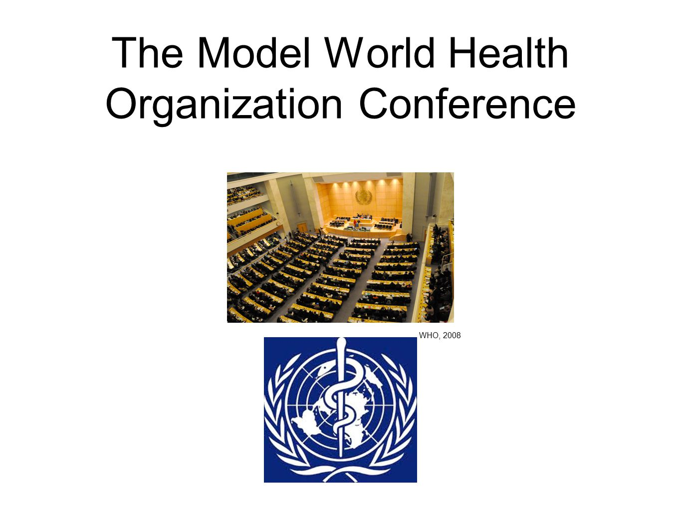 The Model World Health Organization Conference WHO, 2008