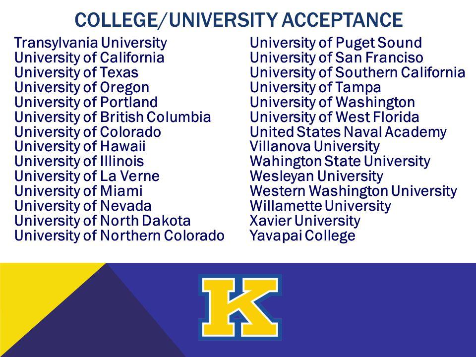 Transylvania University University of California University of Texas University of Oregon University of Portland University of British Columbia Univer
