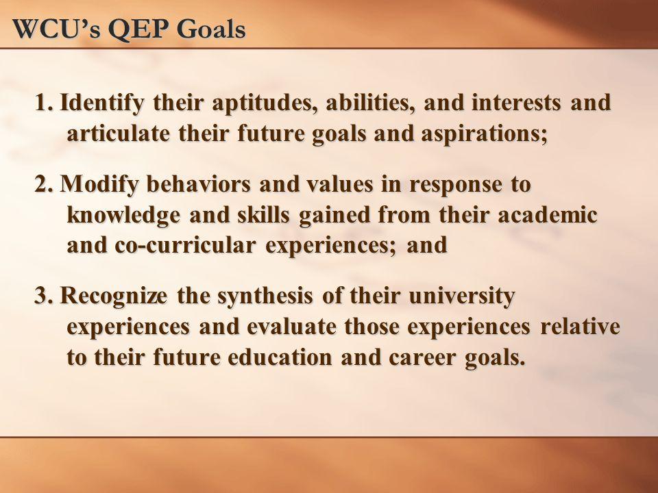 WCU's QEP Goals 1.
