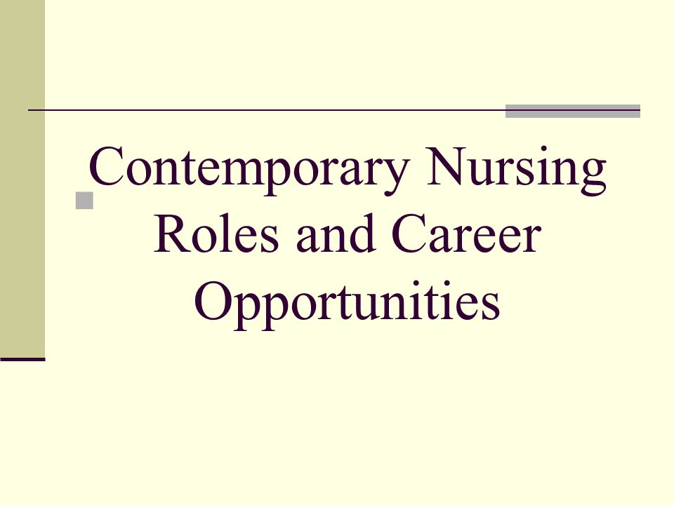 Hospital Opportunities In the hospital the nurse in a direct-care role provides care for people who are ill and unable to provide for themselves.