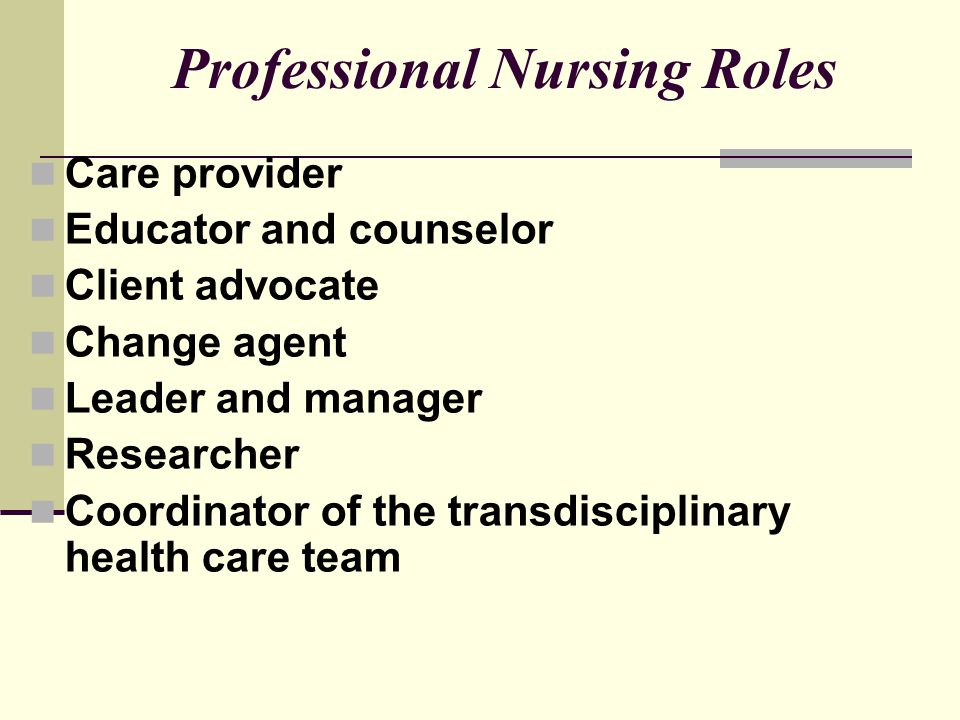 Change Agent When nurses first adopted the role of change agent, few individuals visualized to what extent nurses would fulfill this role.
