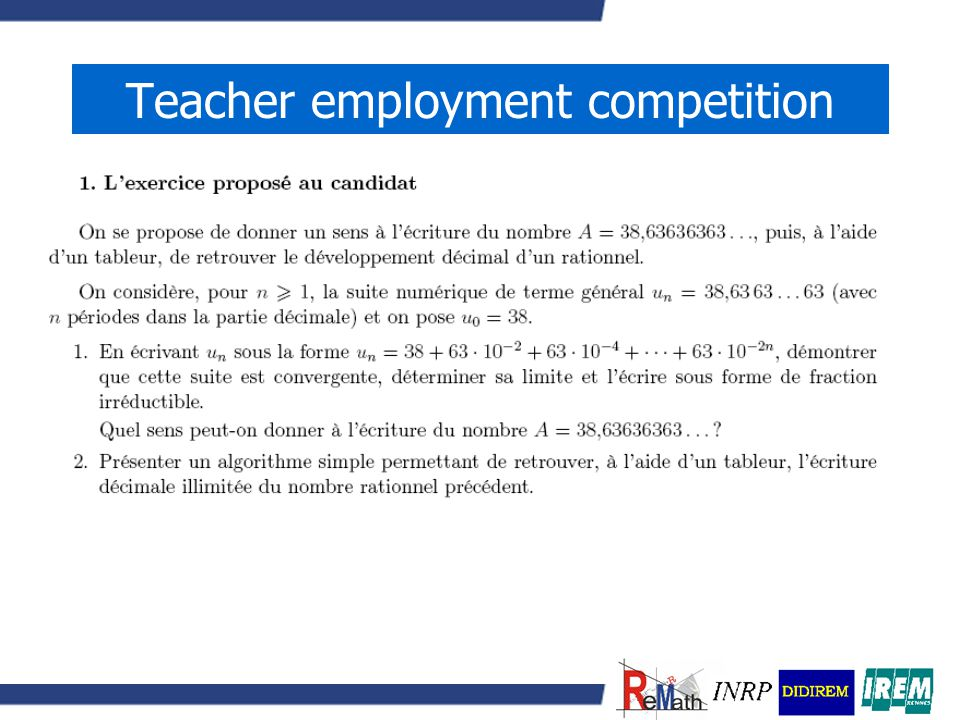 Teacher employment competition
