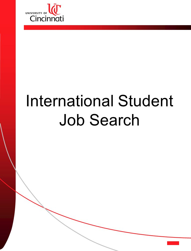International Student Job Search