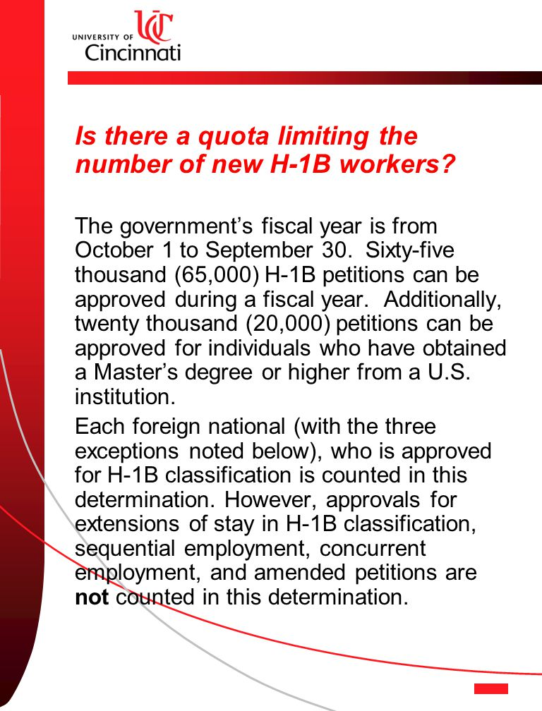 Is there a quota limiting the number of new H-1B workers.