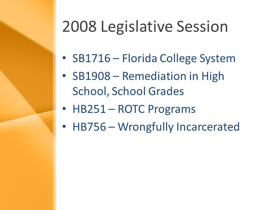 Florida College System (SB1716) Establishes – Florida College System – State College Task Force – State College Pilot Project