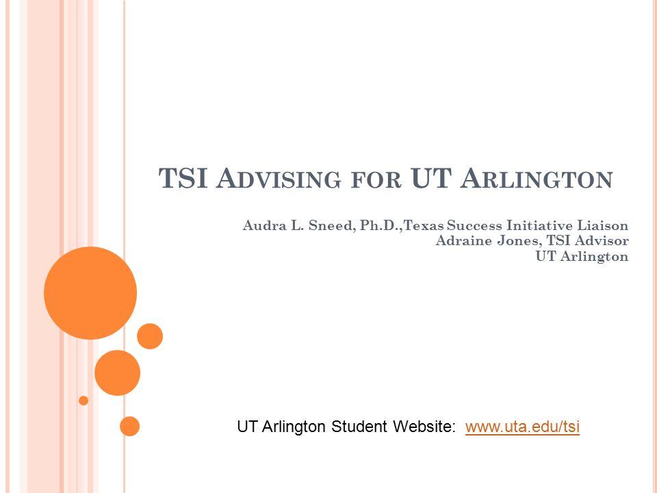 TSI A DVISING FOR UT A RLINGTON Audra L.