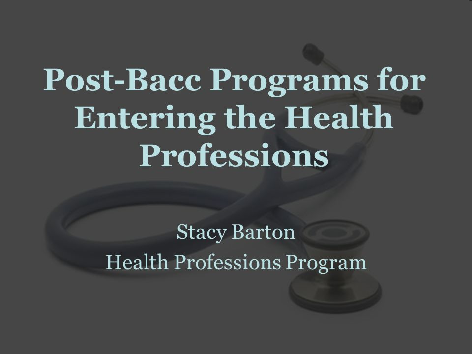 Goals Explore career goals Identify reasons to apply to post-bac programs Review pros and cons of post-bac work Describe types of programs Find a program that's right for you