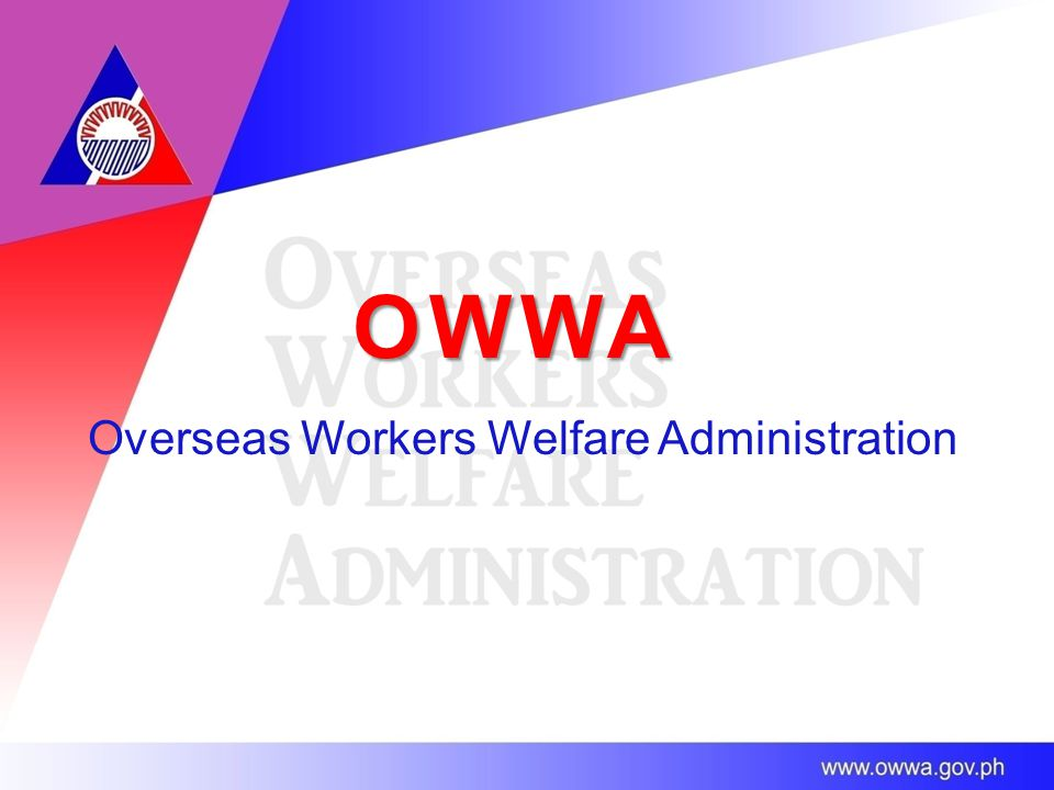 OWWA Overseas Workers Welfare Administration