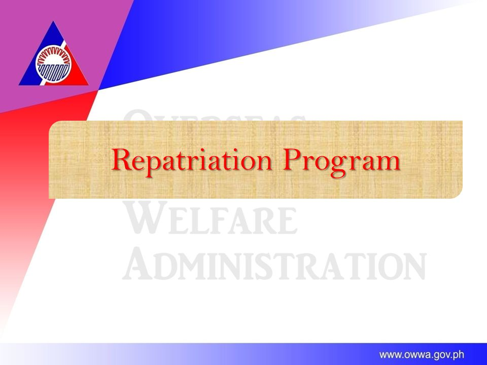 Repatriation Program