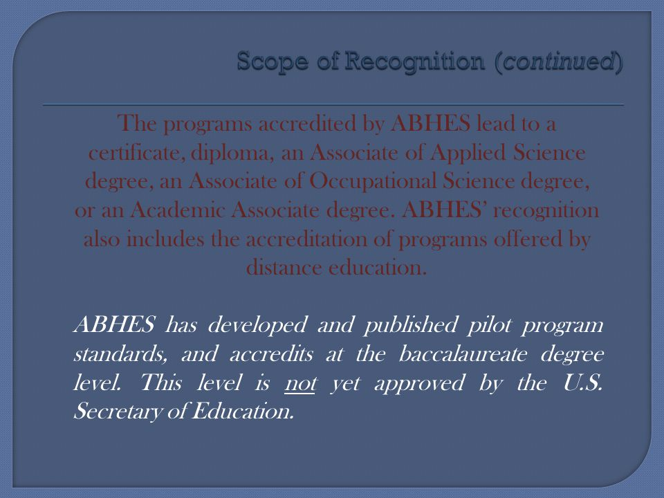  Be reasonable and keep in mind ABHES IS here to help  Check all sources before determining compliance  Project professionalism at all times  Do not speak out of turn  Consider outcomes – if questioning compliance and it is not absolute, good student outcomes may resolve the concern