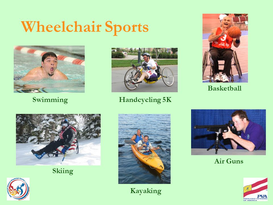 Wheelchair Sports Handcycling 5K Air Guns Swimming Basketball Kayaking Skiing