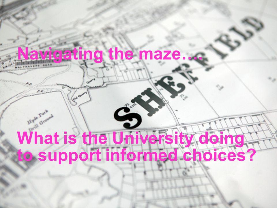 24/04/2015© The University of Sheffield Navigating the maze….