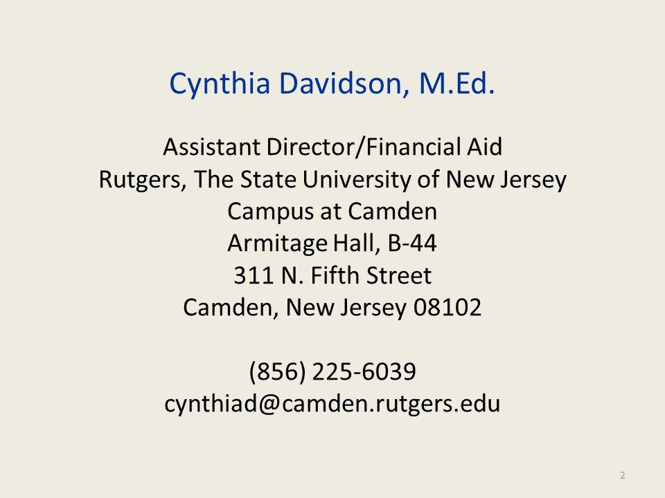 Cynthia Davidson, M.Ed.