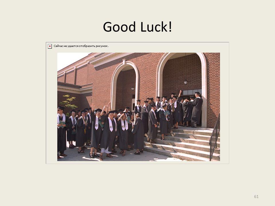 Good Luck! 61