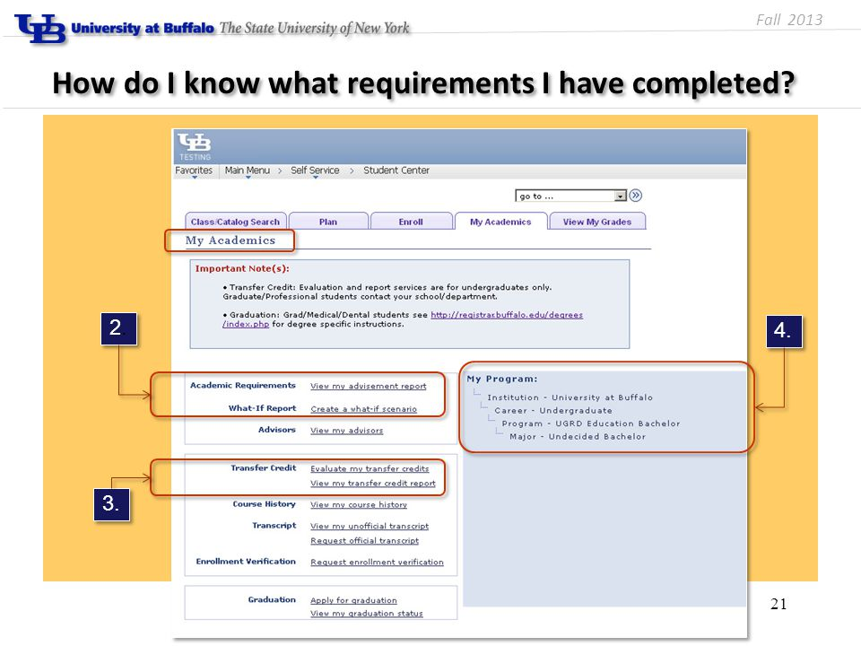 How do I know what requirements I have completed 21 2.2. 2.2. 4. 3. Fall 2013