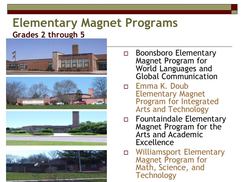 Elementary Magnet Programs Grades 2 through 5  Boonsboro Elementary Magnet Program for World Languages and Global Communication  Emma K.