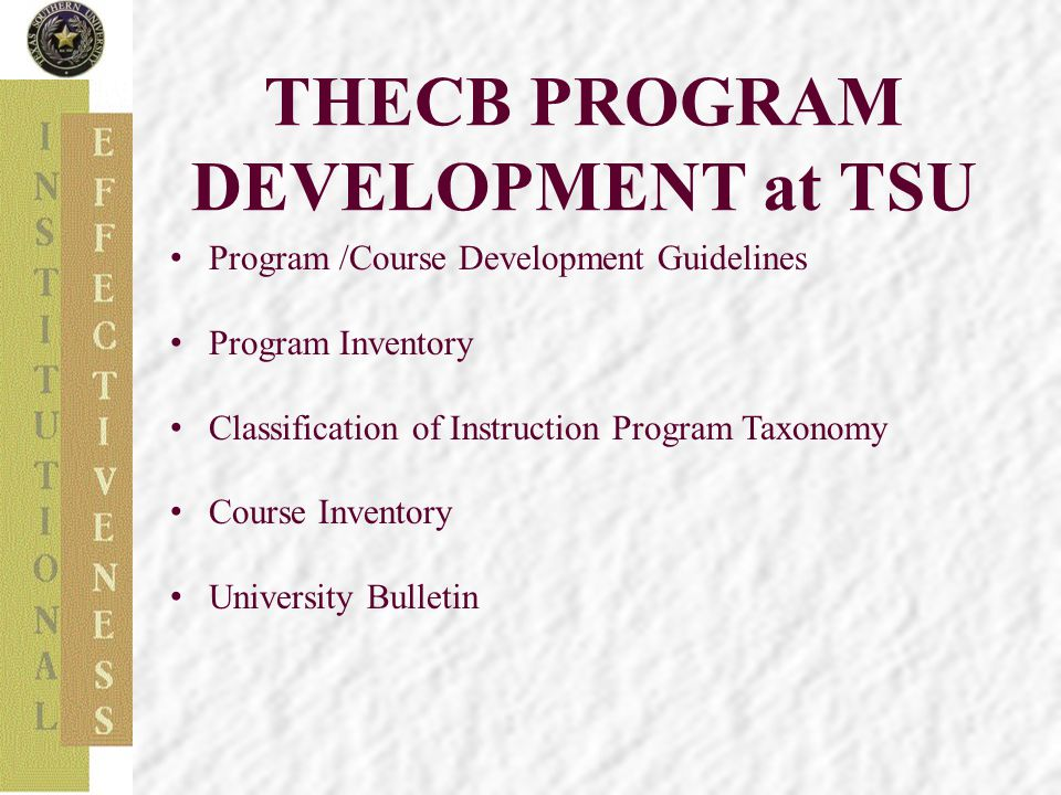 Standards and Guidelines for Certificate and Degree Program Proposals